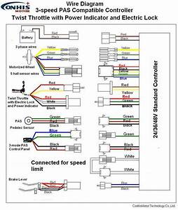 Speed Fan Motor Wiring Diagram Also E Bike Throttle New Controller