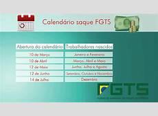 FGTS INATIVO — Calendário FGTS e Datas de Pagamento【2018!!!】
