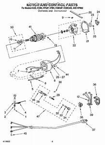 Parts For Kitchenaid Ksm50  Motor And Control Parts