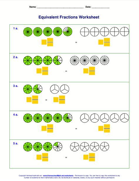 Equivalent Fractions Worksheets  Equivalent Fractions Find The Partner Worksheet Education