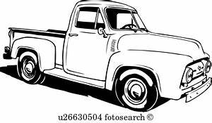 pickup truck clipart and illustration 2317 pickup truck With 1953 ford hot rod