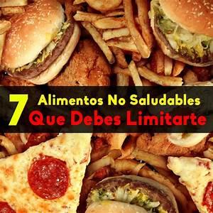 7 alimentos no saludables que debes limitarte for 3 alimentos saludables que debes
