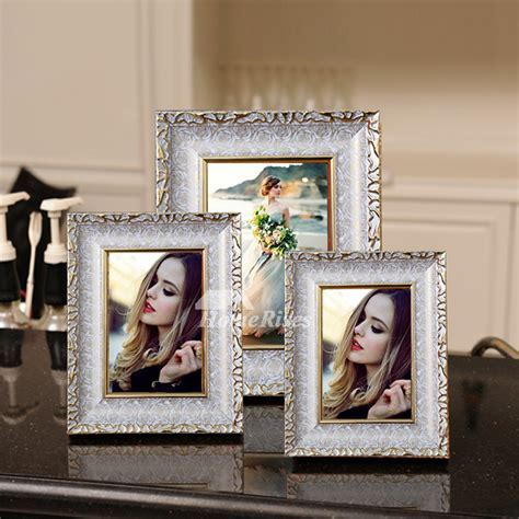 Modern Gold/White 4X6 Plastic Cheap Picture Frames Unique