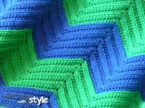 Free Double Crochet Chevron Afghan Pattern