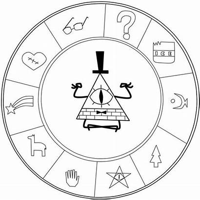 Gravity Cipher Falls Coloring Pages Bill Bipper