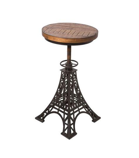 chaise de bar reglable tabouret de bar réglable en bois et métal noir eiffel