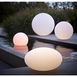 Lampe De Jardin : boule lumineuse ronde 30 cm lampe de jardin design achat vente statue statuette boule ~ Teatrodelosmanantiales.com Idées de Décoration