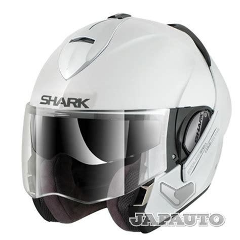 casque shark evoline casque modulable shark evoline 3 blanc japauto accessoires equipement pilote pour moto et