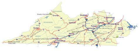 Southwestern Virginia Map