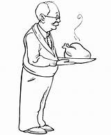 Coloring Roast Turkey Celebration Gran Parents Netart sketch template
