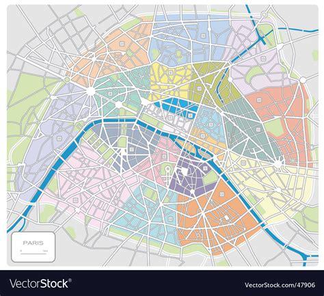 map  paris france royalty  vector image vectorstock