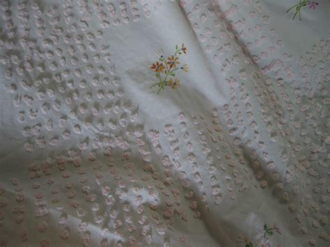 Vintage Chenille Bedspread Fabric