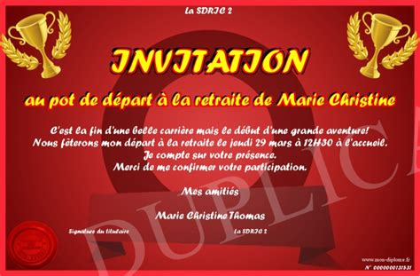 to pin on imprimer carte invitation pot de depart a la retraite ou house and home