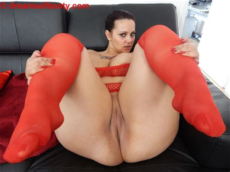 German Pawg Samantha In Sexy Red Stockings More On