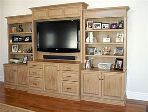 Custom Entertainment Center In Painted And Glazed Finish