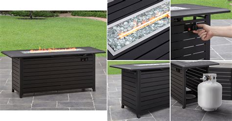 homes gardens  gas fire pit