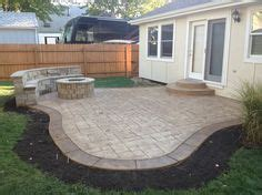 small house patio brick pavers arbor canton