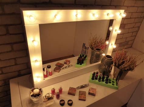 Vanity Table With Lights Around Mirror by Furniture Wonderful Collection Of Mirror With Lights