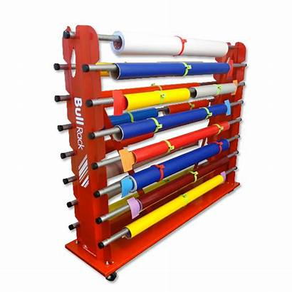 Rack Storage Roll Fabric Display Industrial Rolling