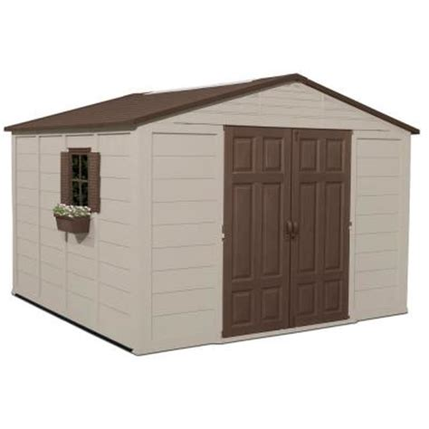 home depot suncast shed suncast 10 ft 4 in x 10 ft 5 in resin storage shed