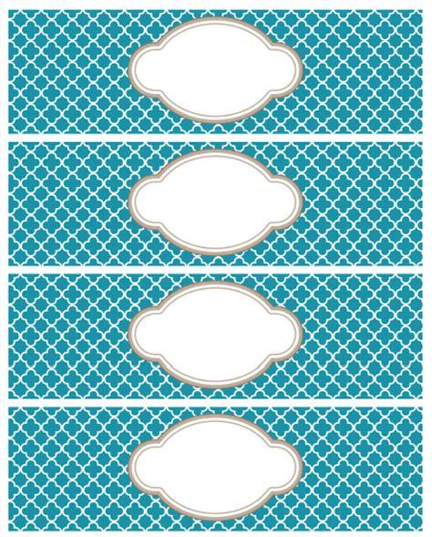 printable moroccan tile designed labels worldlabel blog