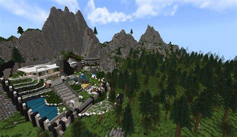 hillside mansion creation redstone minecraft pe maps