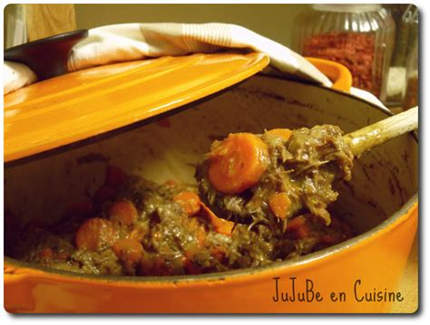 boeuf carottes ou bourguignon jujube en cuisine