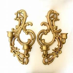 gilded gold metal wall sconces ornate scrolled floral gold With metal wall sconces