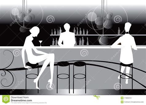 bar restaurant lounge coffee women illustration stock