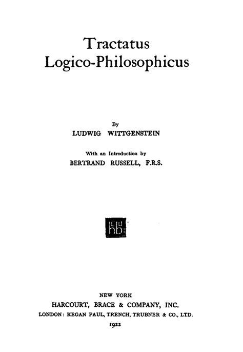 tractatus logico philosophicus wikipedia