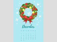 December 2018 Calendar Page Vector Calendar Template