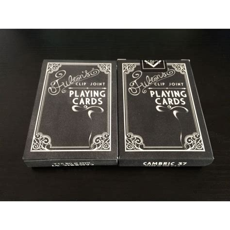 Managed by banks or commercial. Fulton's Clip Joint Black Label Private Reserve Playing Cards Deck - Cartes Magie