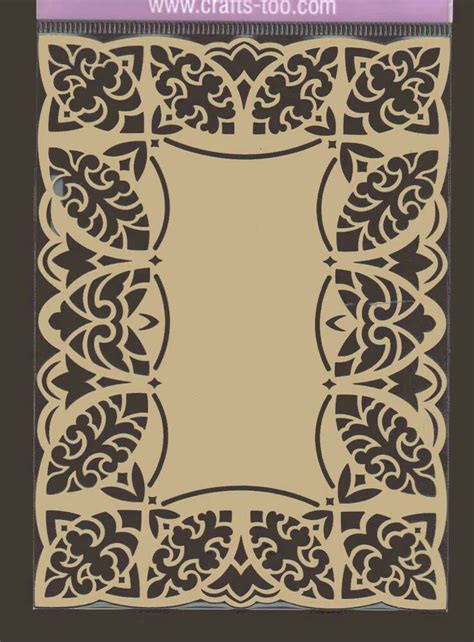 metal artistic embossing stencil oblong lace