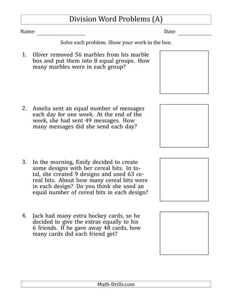division word problems  division facts