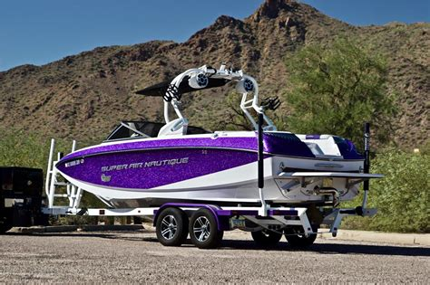 Purple Bass Boat by 2015 Nautique G23 Purple White With Custom Stereo For Sale