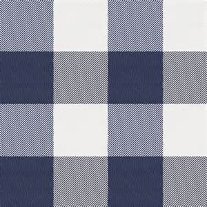 navy and white buffalo check fabric by the yard navy
