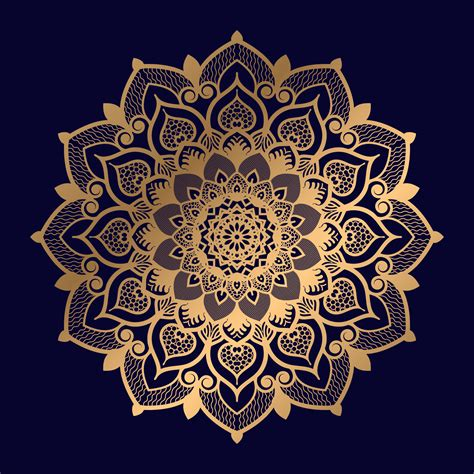 I know that some people love it and some people despise it. Single Floral Golden Mandala Design - Download Free ...