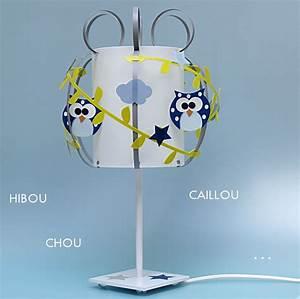 Lampe Chambre Garçon : lampe gar on hibou bleu fabrique casse noisette ~ Teatrodelosmanantiales.com Idées de Décoration