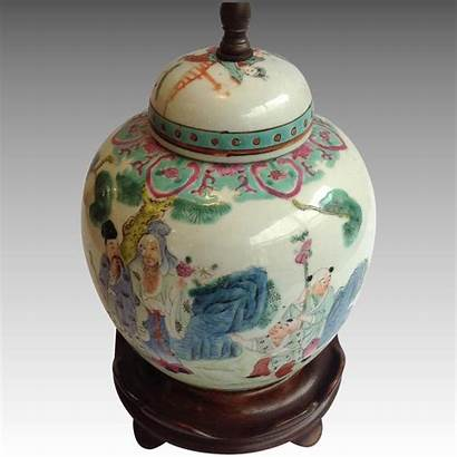 Ginger Jar Chinese Antique Lamp Antiques River