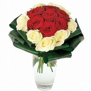 Bouquet Fleurs Blanches : bouquet roses rouges et blanches symbolise l 39 amour ~ Premium-room.com Idées de Décoration