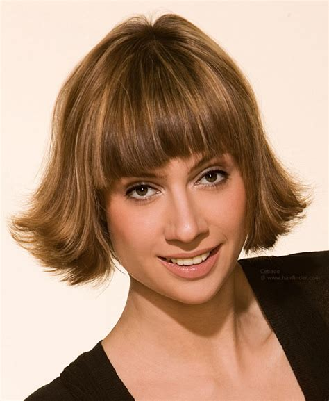 Bob Haircut With Flip Out Styling For Faces With Angular