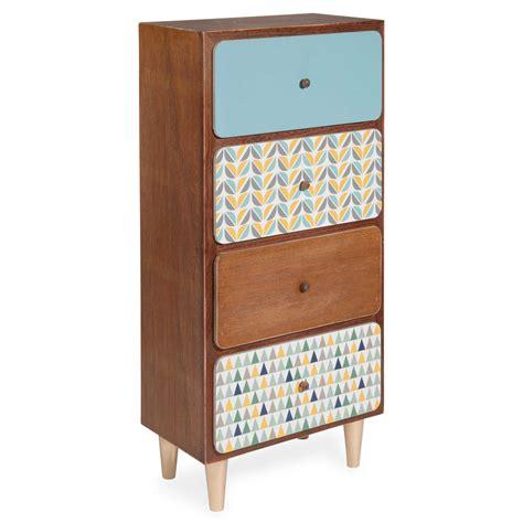 maison du monde rangement petit meuble 4 tiroirs h 77 cm greenwish maisons du monde