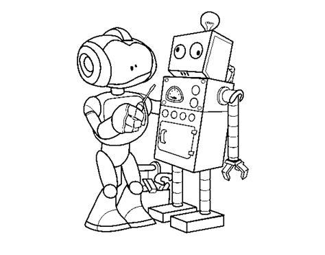 disegni di robot da colorare disegno di robot che organizza robot da colorare acolore