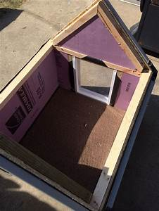 Diy dog house insulated diy dog house pinterest dog for Insulated outdoor dog house