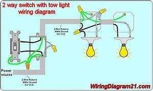 2 Way Light Switch Wiring Diagram