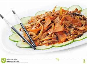 Chinese Food On Plate Close Up Royalty Free Stock Photography - Image: 19378287