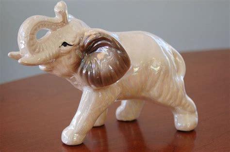 Porcelain Ceramic Elephant Figurines Statues by Porcelain Elephant Figurine Opalescent Glazed Elephant