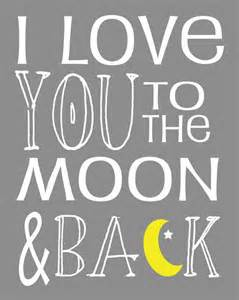 I Love You to the Moon and Back Art