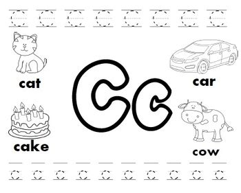 letter c worksheets by kindergarten swag teachers pay teachers