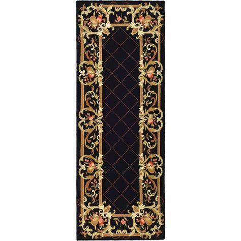 safavieh rug runners safavieh chelsea black 3 ft x 8 ft rug runner hk333b 38